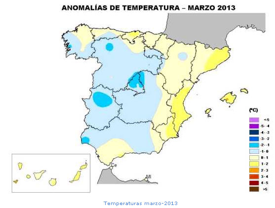 Temperaturas marzo Denia