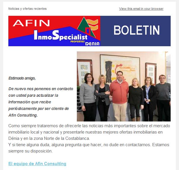 NOTICIAS y OFERTAS de ABRIL 2014   Afin Inmospecialist